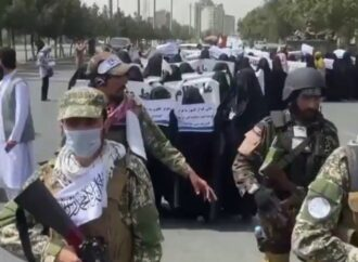 """Afghan Women Chant """"Death to America"""" at Pro-Taliban Rally on 20th Anniversary of 9/11"""